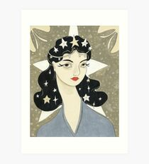 Remember me Remarkable - girl with stars Art Print