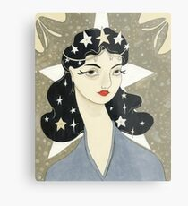 Remember me Remarkable - girl with stars Metal Print