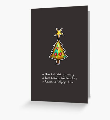 Christmas Card - Chocolate Wish Tree Greeting Card