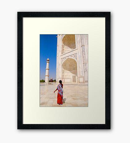 A Walk at the Taj Mahal Framed Print