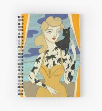 Black Cat Tattooed Lady Spiral Notebook