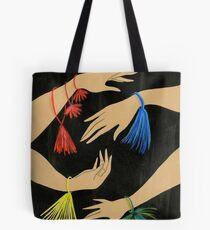 Tasseled Hands Tote Bag