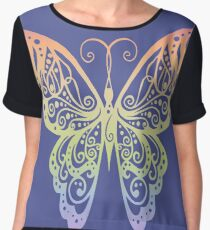 Rainbow Butterfly Women's Chiffon Top