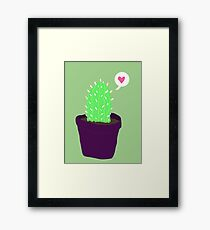 Happier Cactus Framed Print