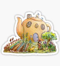 Teapot House Sticker
