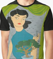 Girl with Bonsai Graphic T-Shirt
