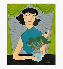 Girl with Bonsai Photographic Print