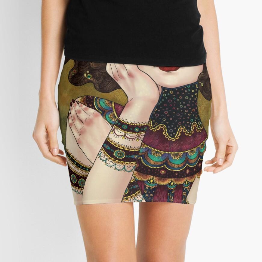 Klimt Muses 5 Mini Skirt
