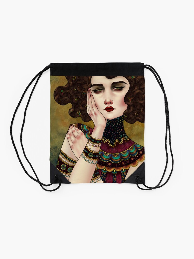Alternate view of Klimt Muses 5 Drawstring Bag