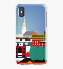 Burlington, Vermont - Skyline Illustration by Loose Petals iPhone Case