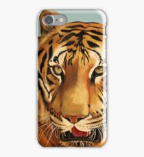 Painting of Hoover, Tiger at Big Cat Rescue, Tampa, FL by JoAnn Weiss iPhone Case/Skin
