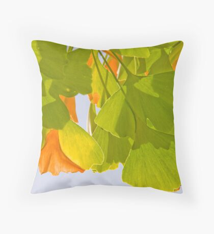 Summer Ginkgo Throw Pillow