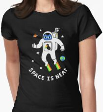 Space Is Neat Womens Fitted T-Shirt