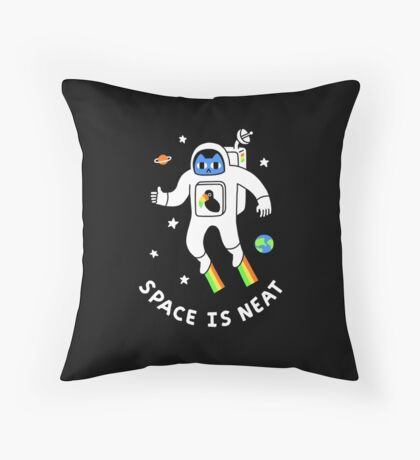 Space Is Neat Throw Pillow