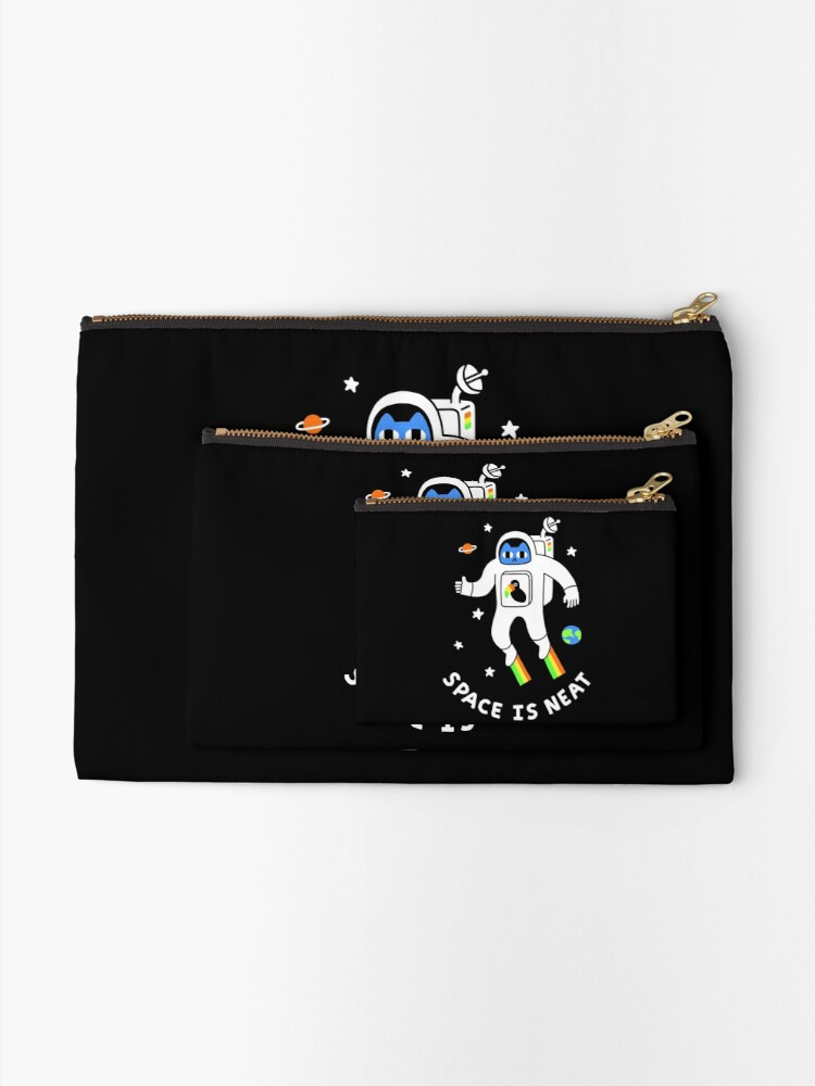 Alternate view of Space Is Neat Zipper Pouch