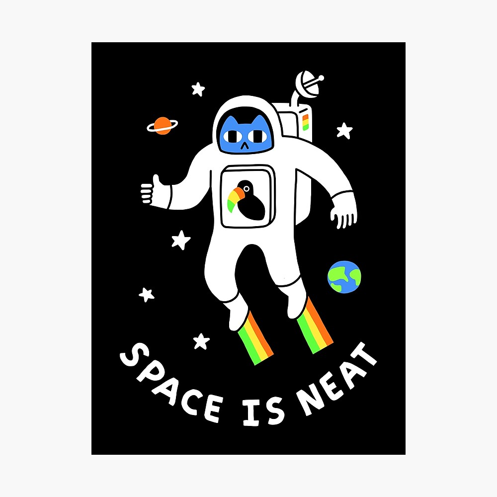 Space Is Neat Photographic Print