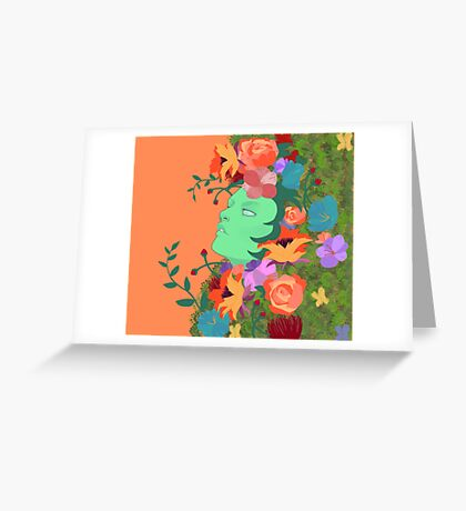 The Green Lady Greeting Card