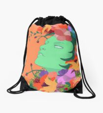 The Green Lady Drawstring Bag
