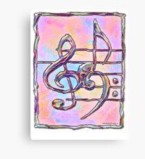 Music symbols 3 Canvas Print