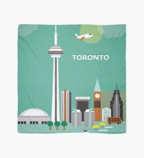 Toronto, Canada - Skyline Illustration by Loose Petals Scarf