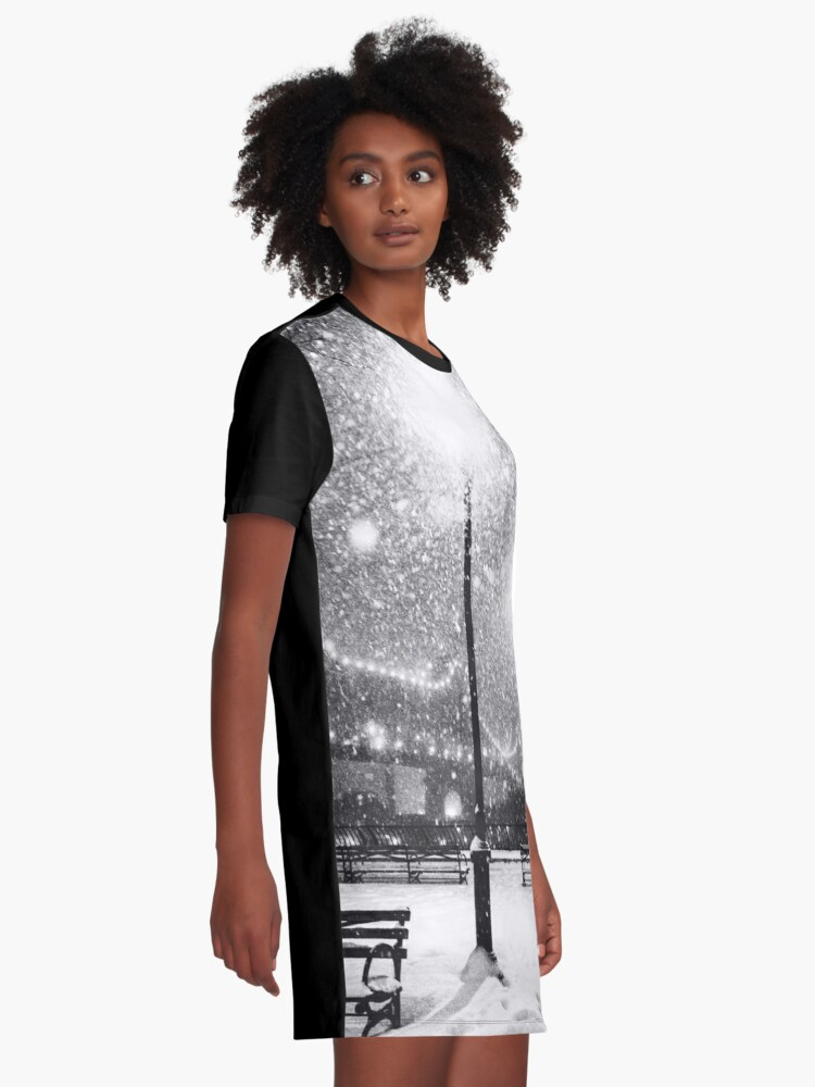 Alternate view of New York City Snow Graphic T-Shirt Dress