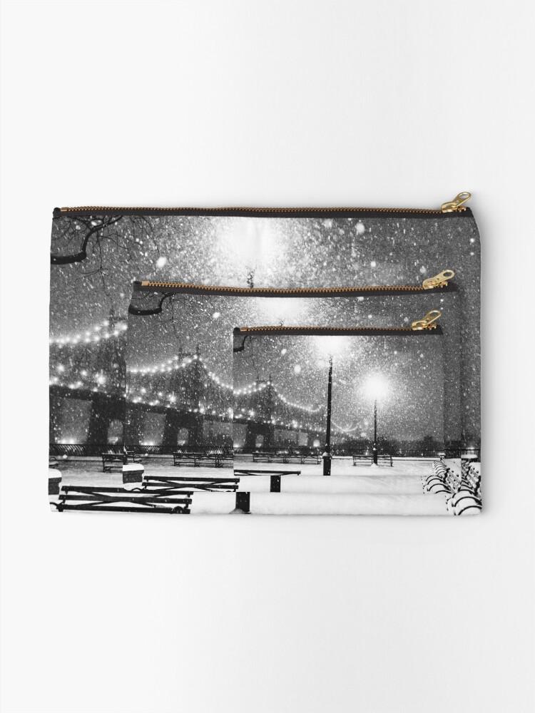Alternate view of New York City Snow Zipper Pouch