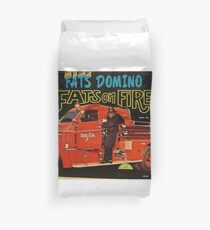 Fats On Fire, Fats Domino, 50's Rock & Roll lp Duvet Cover