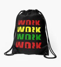 Arbeit (Afrika Design) Rucksackbeutel