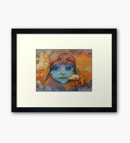 The Golden Elephant Framed Print