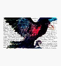 Watercolor Raven Photographic Print