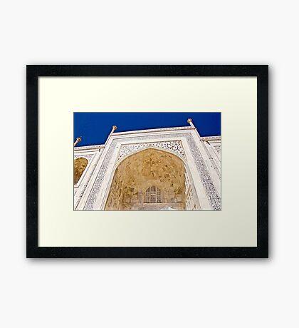 Calligraphy of Taj Mahal Framed Print