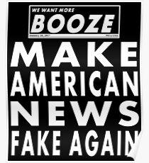 Machen Sie amerikanische Nachrichten wieder gefälscht Poster