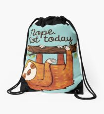 Sloth Nope Drawstring Bag