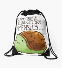 Diese Schildkröte .. er beurteilt dich. Rucksackbeutel