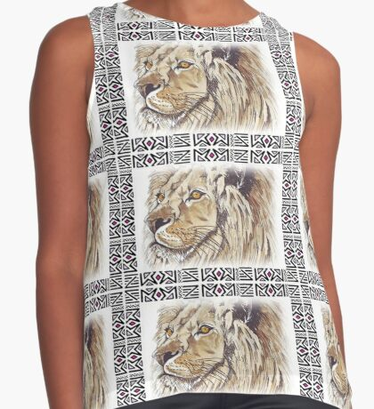 Lodge décor - African lion Sleeveless Top