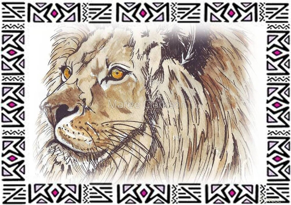 Lodge décor - African lion by Maree Clarkson