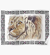Lodge décor - African lion Poster