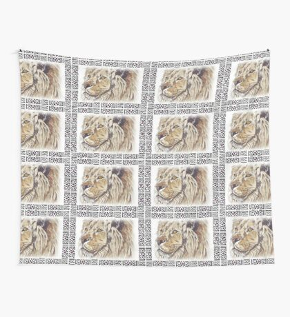Lodge décor - African lion Wall Tapestry