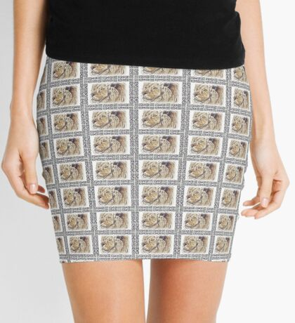 Lodge décor - African lion Mini Skirt