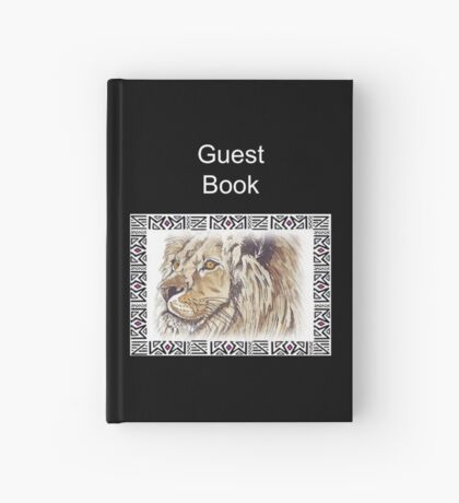 Lodge décor - African lion Hardcover Journal