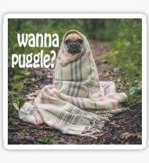 Wanna Puggle? Sticker
