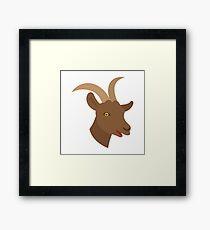 male boy goat face Framed Print