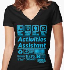 ACTIVITIES ASSISTANT LATEST DESIGN|FIND MORE HERE: https://goo.gl/YpYcDQ Women's Fitted V-Neck T-Shirt