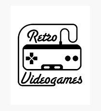 retro videogames Photographic Print