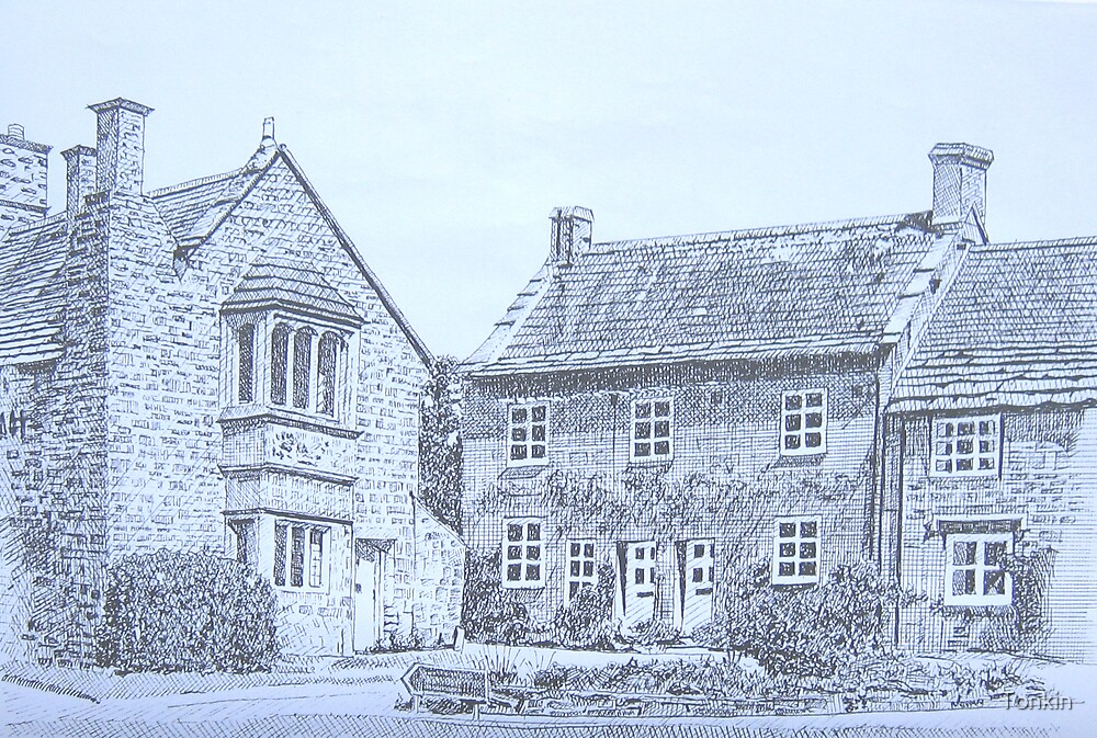 15th Century Cottages, Montacute by Tonkin