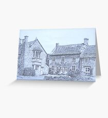 15th Century Cottages, Montacute Greeting Card