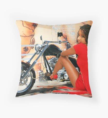 Beautiful in Red Throw Pillow
