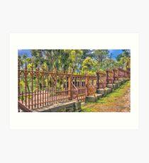 Gateway to the Eltham Cemetery Art Print