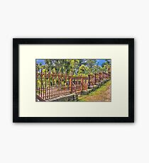 Gateway to the Eltham Cemetery Framed Print