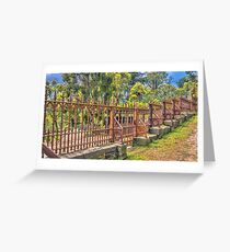 Gateway to the Eltham Cemetery Greeting Card
